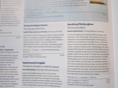 OUP Linguistics catalogue