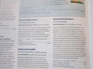 OUP Linguistics catalogue