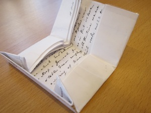 Opening the letter